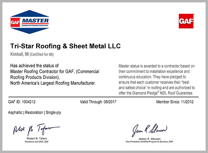 Tri Star Roofing Amp Sheet Metal Commercial Roofing Port