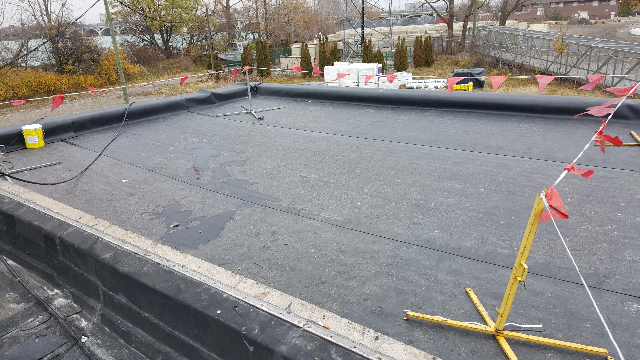 Image of the new finished roof.
